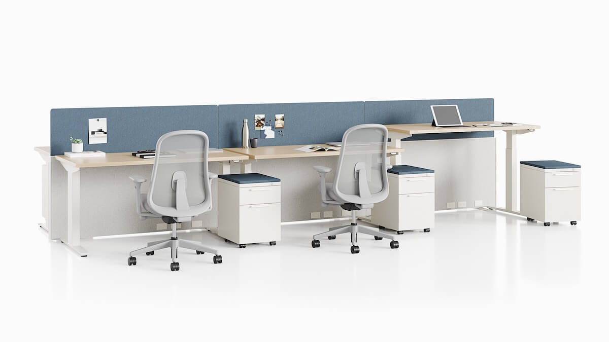 Herman Miller Nevi standing desk table